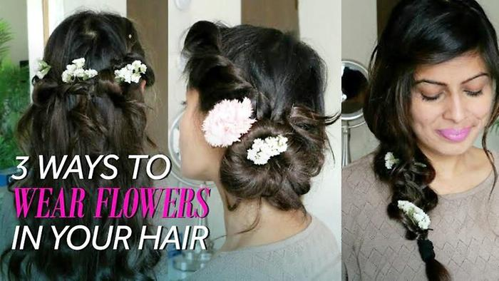 How To Wear Flowers In 3 Ways In Your Hair