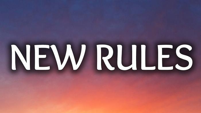 New Rules Lyric Video