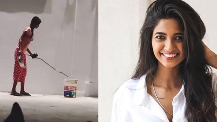 Actress Keerthi Pandian Catches Snake