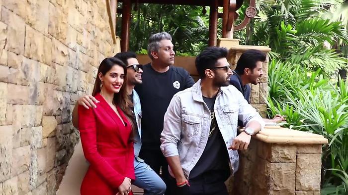 Disha Patani Anil Kapoor Aditya Roy Kapur Promote Film Malang