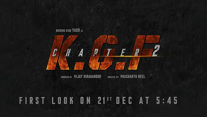 KGF Chapter 2 First Look Poster To Release On December 21