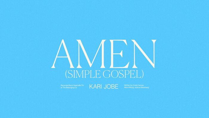 Amen Simple Gospel Audio  Live