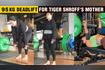 Tiger's Mother Ayesha Shroff 95 Kg Deadlift Unbelievable Video With Daughter Krishna Shroff