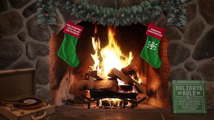 Wonderful Christmastime Yule Log Audio