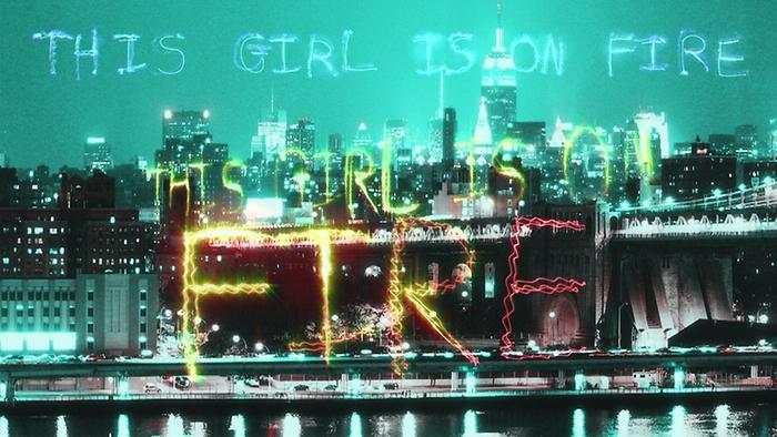 Girl On Fire Inferno Version Lyric Video