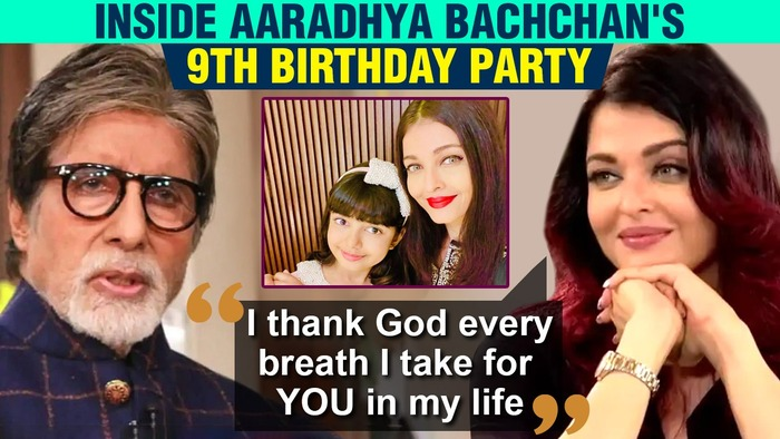 Aishwarya Rai  Amitabh Bachchans Emotional Birthday Post For Aaradhya Party Pictures