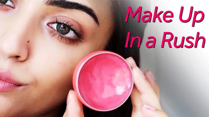 Make Up In A Rush Quick Make  Up Hacks Makeup Tutorial