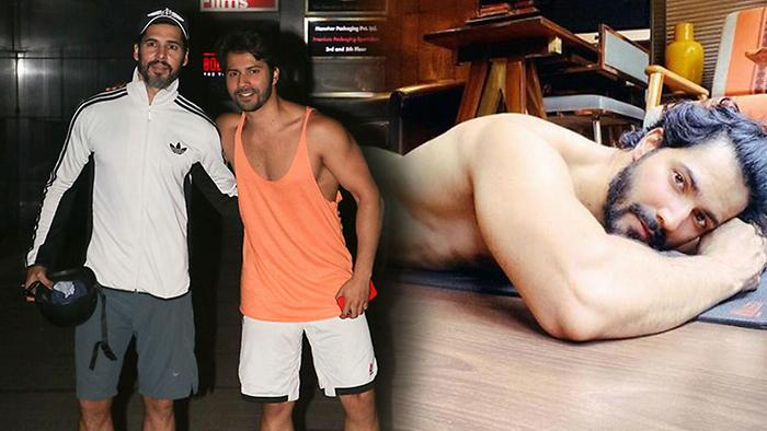 Varun goes shirtless