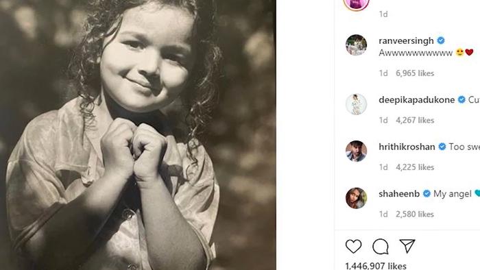 Kangana Slams HrithikDeepikaRanveer For Praising Alia Bhatts Childhood Pic