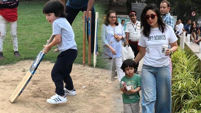 Kareena Kapoor Shares A Pic Of Taimur Playing Cricket