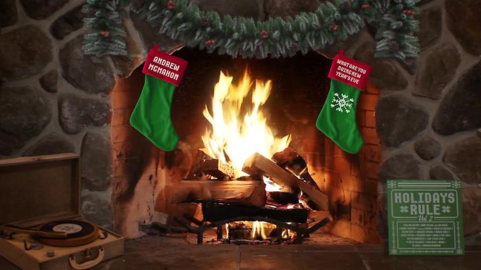 What Are You Doing New Years Eve Yule Log Audio