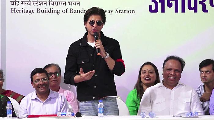Shah Rukh Khan Launch Postage Stamp At Bandra Railway Station