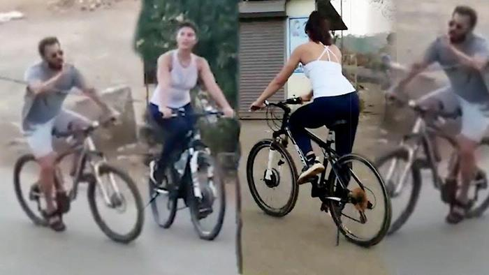 Salman And Jacqueline Fernandez Cycling In Panvel