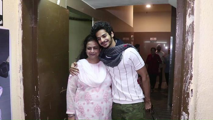 DishaAdityaIshan Khattar With Mother Neelima Azim Spotted At Pvr Juhu