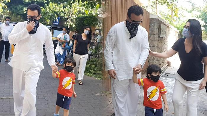 Saif Ali Khan And Kareena Step Out With Taimur