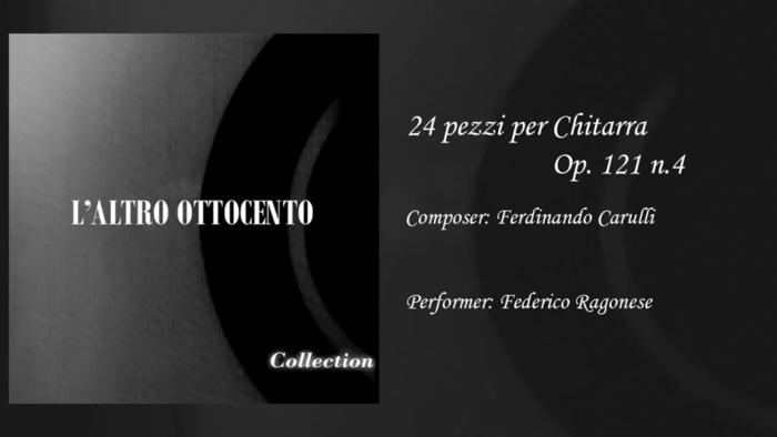 24 pezzi per Chitarra Op 121 n4