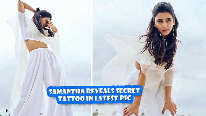 Samantha Reveals Secret Tattoo In Latest Pic