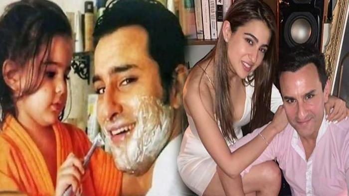 When Sara Ali Khan Shaves Her Father Saif Ali Khans Beard