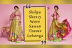 Shilpa Shetty Wore Sawan Theme Lehenga