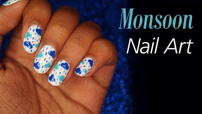 Monsoon Special Nail Art Tutorial