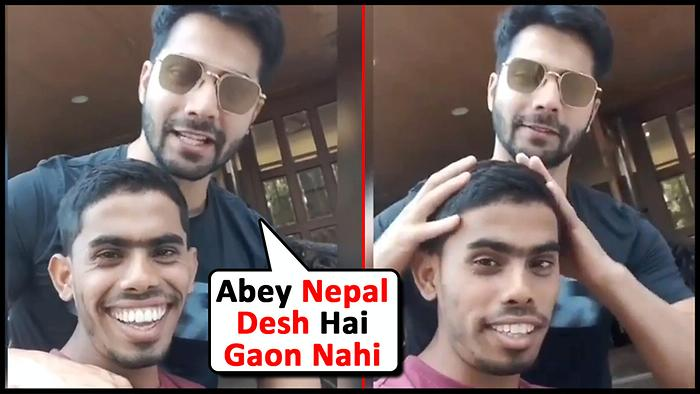 Varun Dhawan Funny Video On Wishing Holi With Media Photographer And Fans