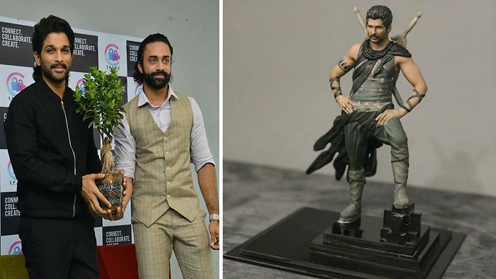 Allu Arjun Gets Toy Gift From Navdeep