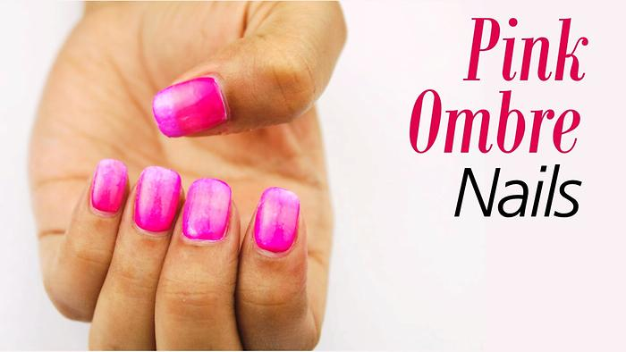 Pink Ombre Nails Nail Art Tutorial for Beginners Blush
