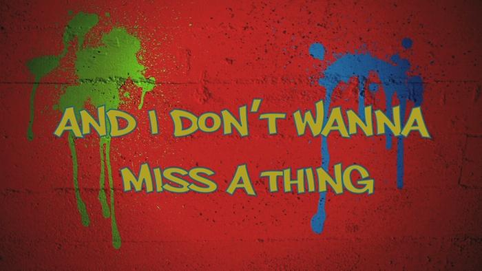 Sin Ti I Dont Want To Miss A Thing Lyrics Video